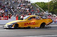 May 31, 2013; Englishtown, NJ, USA: NHRA funny car driver Del Worsham during qualifying for the Summer Nationals at Raceway Park. Mandatory Credit: Mark J. Rebilas-