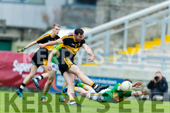 Daithí Casey Dr Crokes in action against Mark Griffin South Kerry in the Senior County Football Final in Austin Stack Park on Sunday
