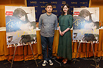(L to R) Actress Erika Karata and director Ryusuke Hamaguchi, pose for the cameras during a Q&A for the film ASAKO I & II (Netemo sametemo) at the Foreign Correspondents' Club of Japan on August 29, 2018, Tokyo, Japan. The Japanese romantic drama was selected to compete for the Palme d'Or this year at the Cannes Film Festival. The film will be released in Japan on September 1. (Photo by Rodrigo Reyes Marin/AFLO)