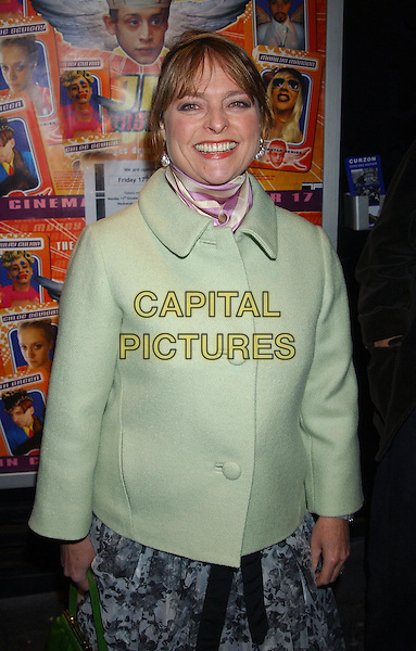 JANET ELLIS.Uk Premiere Of Party Monster, The Curzon, Soho, London, UK.14th October 2003.half length, half-length, mint green coat.www.capitalpictures.com.sales@capitalpictures.com.Supplied By Capital PIctures