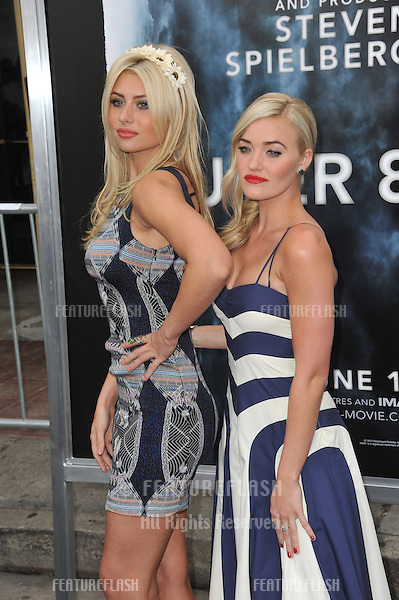 "Alyson Michalka & Amanda Michalka (right) at the Los Angeles premiere of ""Super 8"" at the Regency Village Theatre, Westwood..June 8, 2011  Los Angeles, CA.Picture: Paul Smith / Featureflash"
