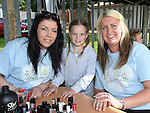 Leanne Byrne, Morgan Owens and Lisa Devlin at the Hope For Zoe family funday fundraiser in the Rugby Club. Photo:Colin Bell/pressphotos.ie