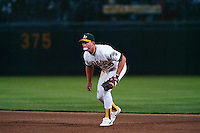 OAKLAND, CA - Mark McGwire of the Oakland Athletics plays defense at first base during Game 3 of the 1988 World Series against the Los Angeles Dodgers at the Oakland Coliseum in Oakland, California in 1988. Photo by Brad Mangin