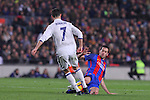 03.12.2016 Barcelona. La Liga. Picture show Sergio Busquets and Crstiano Ronaldo in action during game between Fc Barcelona against Real Madrid at Camp Nou