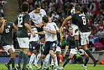 28 May 2008: England's John Terry (6) heads home the first goal in a crowd on a David Beckham (not pictured) free kick. The England Men's National Team defeated the United States Men's National Team 2-0 at Wembley Stadium in London, England in an international friendly soccer match.