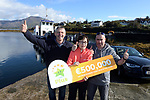 21-9-2017:  Mary Murphy, Post Mistress, Rerrin Post Office on Bere Island in County Cork pictured with Brendan Murphy and John Harrington after she sold a 500,000 Euro Millions Plus ticket pictured celebrating on Thursday.<br /> Photo: Don MacMonagle<br /> <br /> Issued on behlf of The National Lottery
