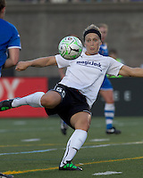 magicJack forward Ella Masar (55) vollies the ball. In a Women's Professional Soccer (WPS) match, the Boston Breakers defeated magicJack, 2-1, at Harvard Stadium on June 5, 2011.