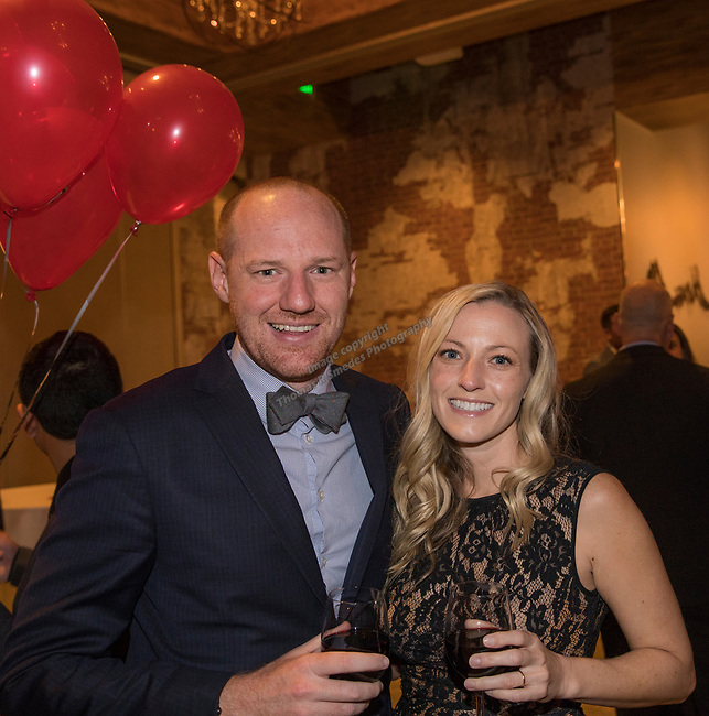 Casey and Melissa Kreck during the Step 2 Jingle & Mingle held at the Whitney Peak Hotel on Friday night, December 1, 2017.