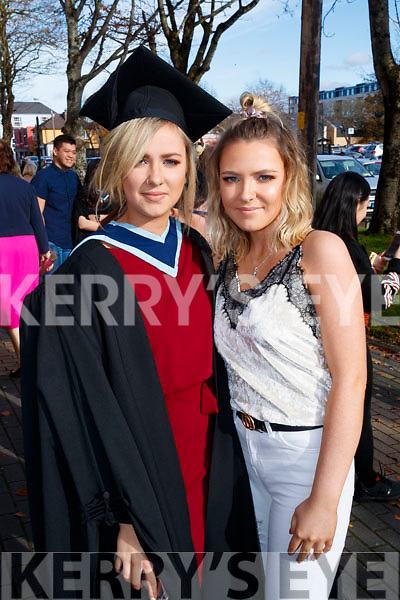 Aoife O'Carroll, Ballyduff, who graduated in Early Childhood Care and Education, from IT Tralee, on Friday morning last, at the Brandon Conference Centre, Tralee, Pictured here with her sister Niamh O'Carroll.