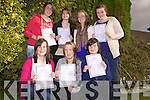 Pupils from Presentation Secondary School who received their Junior Certificate results on Wednesday. Back L-R Niamh Keane, Abigail Walsh, Sarah O'Connor, Katy Mulvihill..