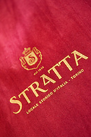 'Stratta' established 1836, a renowned artisan chocolate and confectionery shop and bar, Turin, Piedmont, Italy