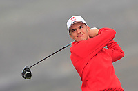 Oliver Brown from Wales on the 4th tee during Round 2 Singles of the Men's Home Internationals 2018 at Conwy Golf Club, Conwy, Wales on Thursday 13th September 2018.<br /> Picture: Thos Caffrey / Golffile<br /> <br /> All photo usage must carry mandatory copyright credit (&copy; Golffile | Thos Caffrey)