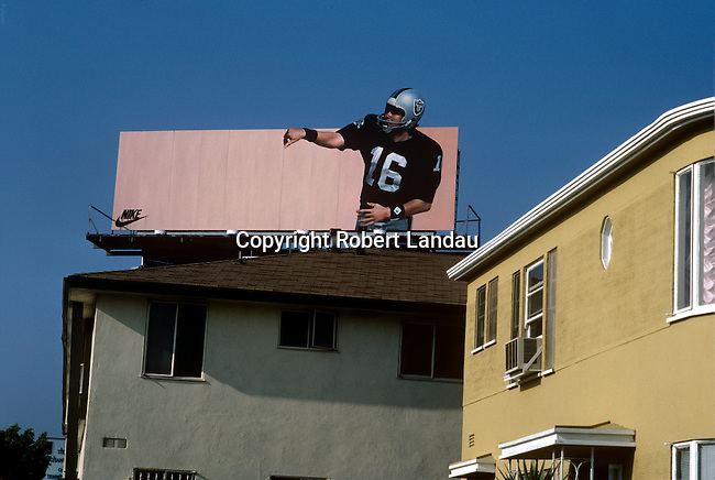 Nike Billboard with L.A. Raider Football Player