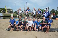 FIERLJEPPEN: IJLST: 04-08-2018, FK Jeugdfierljeppen, ©foto Martin de Jong
