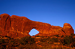 UT: Utah; Arches National Park, South Window Arch          .Photo Copyright: Lee Foster, lee@fostertravel.com, www.fostertravel.com, (510) 549-2202.Image: utarch208