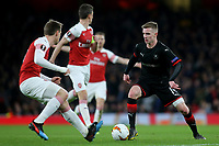 Benjamin Bourigeaud of Rennes takes on the Arsenal defence during Arsenal vs Rennes, UEFA Europa League Football at the Emirates Stadium on 14th March 2019