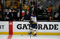 June 6, 2019:  Louis Blues center Robby Fabbri (15) warms up before game 5 of the NHL Stanley Cup Finals between the St Louis Blues and the Boston Bruins held at TD Garden, in Boston, Mass. The Blues defeat the Bruins 2-1 in regulation time. Eric Canha/CSM