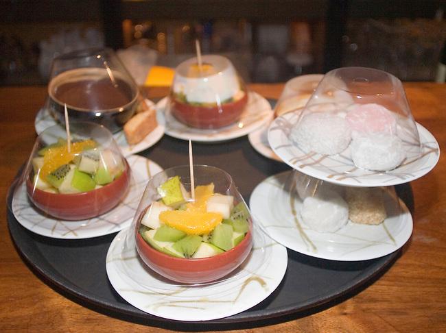 Fruit, Dessert, Moshi Moshi Restaurant, Hoxton, London, Great Britain, Europe