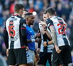 02.02.2019: Rangers v St Mirren: Jermain Defoe rounded on by St Mirren players