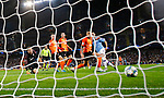 Ilkay Gundogan of Manchester City scores his goal against Shakhtar Donetsk during the UEFA Champions League match at the Etihad Stadium, Manchester. Picture date: 26th November 2019. Picture credit should read: Darren Staples/Sportimage