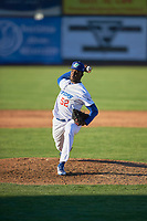 Ogden Raptors starting pitcher Jeronimo Castro (52) delivers a pitch to the plate against the Grand Junction Rockies at Lindquist Field on June 15, 2019 in Ogden, Utah. The Raptors defeated the Rockies 12-11. (Stephen Smith/Four Seam Images)