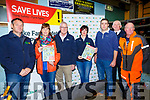 Large crowd at the Farm Safety Event at Kingdom Mart on Thursday. Pictured Pat O'Driscoll, Kerry IFA county Chairman, Bernadette O'Driscoll, Farm Family, John Kennedy, Inspector with the Health and Safety Authority, Maura Canning, National Chair IFA Farm Family, Denis Griffin, IFA development officer, Pat Brosnan,  Civil Defence, Andy Wall, Husqvarna