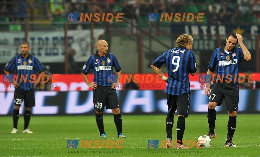 """Delusione Inter (Inter).Milano 1/10/2011 Stadio """"Giuseppe Meazza"""".Serie A 2011/2012.Football Calcio Inter Vs Napoli.Foto Insidefoto Alessandro Sabattini."""