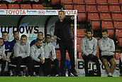 12th September 2017, Oakwell, Barnsley, England; Carabao Cup, second round, Barnsley versus Derby County; Gary Rowett manager of Derby County  gets his team going