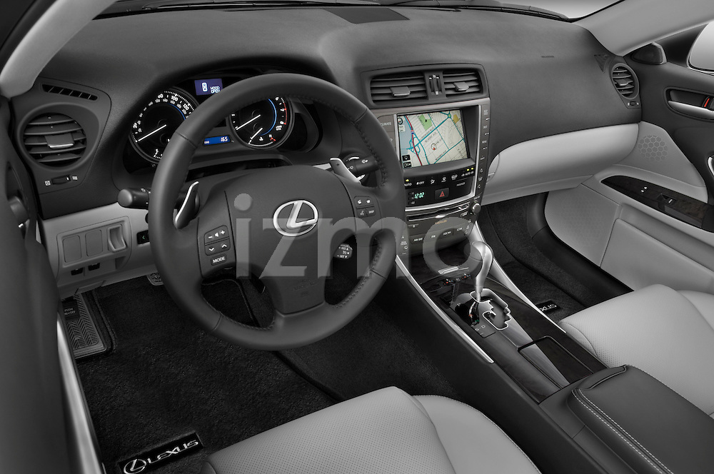 High angle dashboard view of a  2009 Lexus IS 350