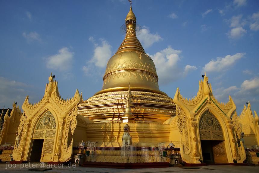 golden stupa of Maha Wizaya pagoda, Yangon, Myanmar, 2011