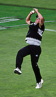 NZ's Tim Southee takes a catch during 2nd Twenty20 cricket match match between New Zealand Black Caps and West Indies at Westpac Stadium, Wellington, New Zealand on Friday, 27 February 2009. Photo: Dave Lintott / lintottphoto.co.nz