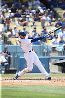 07/09/17 Los Angeles, CA :Los Angeles Dodgers center fielder Trayce Thompson #21 during an MLB game between the Los Angeles Dodgers and the Kansas City Royals played at Dodger Stadium.