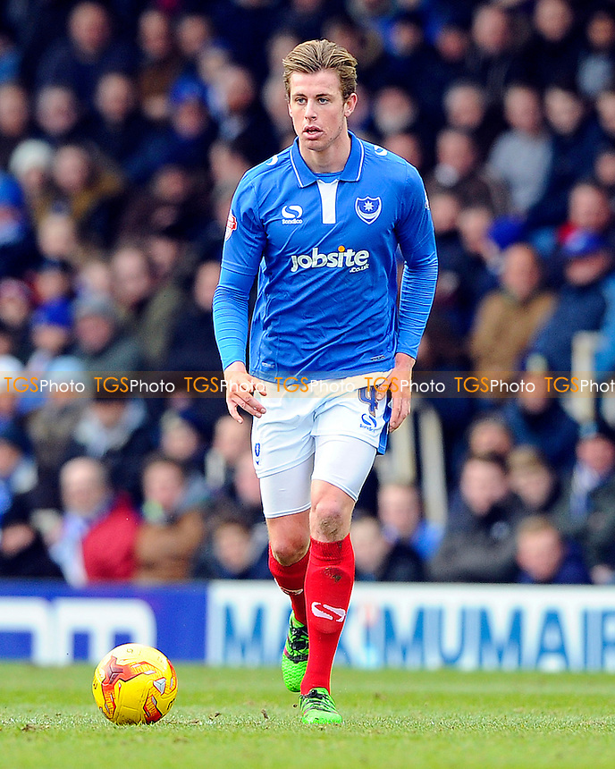 Adam Webster of Portsmouth during Portsmouth vs Cambridge United, Sky Bet League 2 Football at Fratton Park, Portsmouth