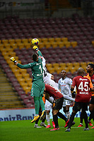 15th March 2020, Istanbul, Turkey;   Goalkeeper Fernando Muslera of Galatasaray punches the ball clear during the Turkish Super league football match between Galatasaray and Besiktas at Turk Telkom Stadium in Istanbul , Turkey on March 15 , 2020.