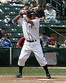 June 22, 2004:  Luis Maza of the Rochester Red Wings, Triple-A International League affiliate of the Minnesota Twins, during a game at Frontier Field in Rochester, NY.  Photo by:  Mike Janes/Four Seam Images