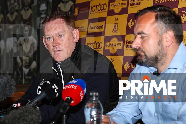 Bradford City head coach David Hopkin during Bradford City Press Conference as Bradford City appointment David Hopkin as head coach at the Northern Commercial Stadium, Bradford, England on 6 September 2018. Photo by Thomas Gadd.