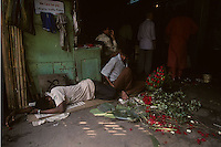 Flower market in Calcutta, India in 1996