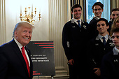 United States President Donald J. Trump arrives to greet college athletes as part of NCAA Collegiate National Champions Day at the White House in Washington on November 22, 2019. <br /> Credit: Yuri Gripas / Pool via CNP
