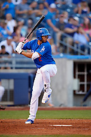 Tulsa Drillers left fielder Jacob Scavuzzo (2) at bat during a game against the Corpus Christi Hooks on June 3, 2017 at ONEOK Field in Tulsa, Oklahoma.  Corpus Christi defeated Tulsa 5-3.  (Mike Janes/Four Seam Images)