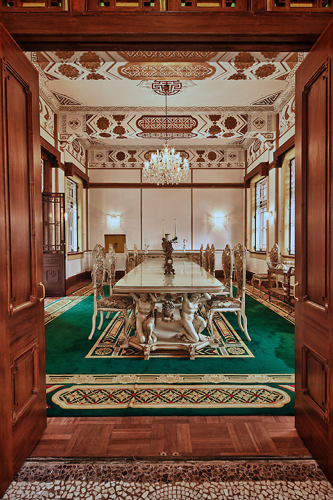 """Western dining room, King Yin Lei, Stubbs Road, Hong Kong Island.  (See detailed coverage in """"Individual Monuments"""".)"""
