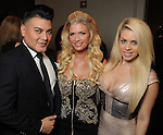 From left: Edward Sanchez, Tammie Johnson and Brittney Randolph at the Una Notte in Italia event at the Westin Galleria Hotel Friday Nov. 07, 2014.(Dave Rossman photo)