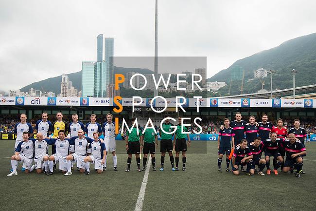 HKFC Veterans vs Singapore Cricket Club Tigers during the Masters of the HKFC Citi Soccer Sevens on 21 May 2016 in the Hong Kong Footbal Club, Hong Kong, China. Photo by Li Man Yuen / Power Sport Images