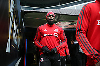 SEATTLE, WA - NOVEMBER 9: Jozy Altidore #17 of Toronto FC takes the field at CenturyLink Field on November 9, 2019 in Seattle, Washington.