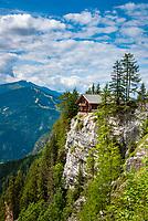Oesterreich. Ost-Tirol, bei Lienz: Dolomitenhuette, Lienzer Dolomiten | Austria, East-Tyrol, near Lienz: Dolomites hut, mountain Inn