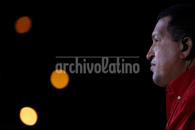 President of Venezuela Hugo Chavez his TV program Alo President in Caracas