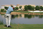 Rhys Davies tees off on the par3 6th tee during Day 1 of the Dubai World Championship, Earth Course, Jumeirah Golf Estates, Dubai, 25th November 2010..(Picture Eoin Clarke/www.golffile.ie)