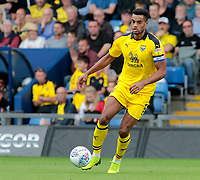 Oxford United's Curtis Nelson in action<br /> <br /> Photographer David Shipman/CameraSport<br /> <br /> The EFL Sky Bet League One - Oxford United v Fleetwood Town - Saturday August 11th 2018 - Kassam Stadium - Oxford<br /> <br /> World Copyright &copy; 2018 CameraSport. All rights reserved. 43 Linden Ave. Countesthorpe. Leicester. England. LE8 5PG - Tel: +44 (0) 116 277 4147 - admin@camerasport.com - www.camerasport.com