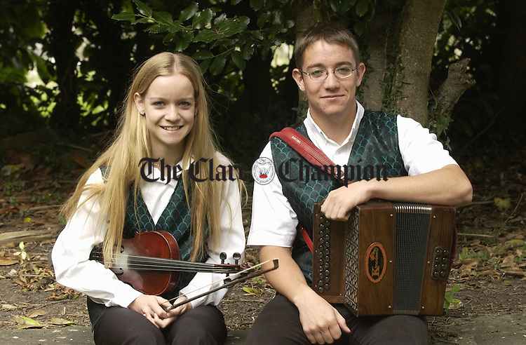 Tara Breen and her brother Edward who came second in the  U-18 duet at the All-Ireland fleadh in Clonmel.