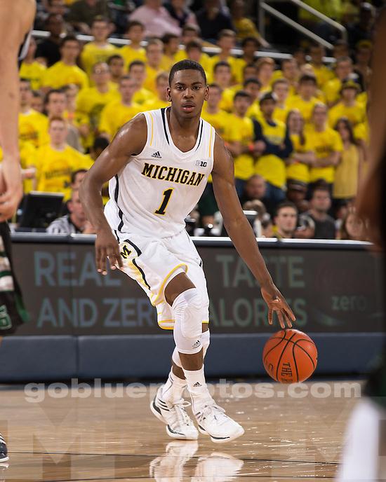 The University of Michigan men's basketball team beat Slippery Rock, 100-62, at Crisler Center in Ann Arbor, Mich., on November 9, 2012.