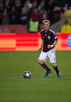 21 November 2010: Colorado Rapids midfielder Jeff Larentowicz #4 in action during the 2010 MLS CUP between the Colorado Rapids and FC Dallas at BMO Field in Toronto, Ontario Canada..The Colorado Rapids won 2-1 in extra time....
